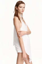 Jersey strappy top - White marl - Ladies | H&M CN 1