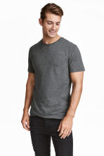 T-shirt girocollo Slim fit - Grigio scuro mélange - UOMO | H&M IT 1