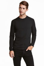 Long-sleeved T-shirt Slim fit - Black - Men | H&M 2