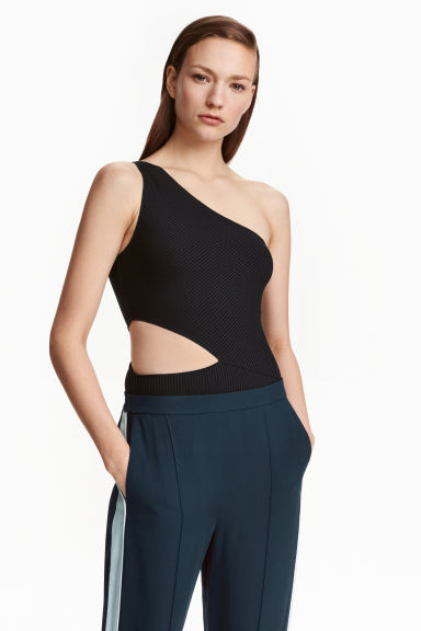 One-shoulder body - Black - Ladies | H&M CN