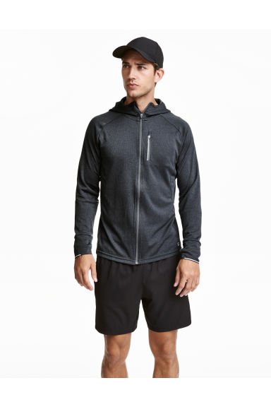 Hooded running jacket - Dark grey marl - Men | H&M CN 1