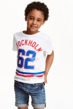 Printed T-shirt - White/Stockholm - Kids | H&M CN 1