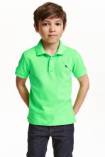 Cotton polo shirt - Neon green - Kids | H&M CN 1