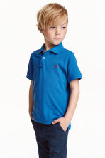 Cotton polo shirt - Cornflower blue - Kids | H&M CN 1