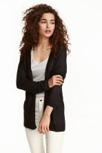 Fine-knit cardigan - Black - Ladies | H&M GB 2