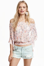 Boho blouse - Powder pink/Floral - Ladies | H&M CN 1