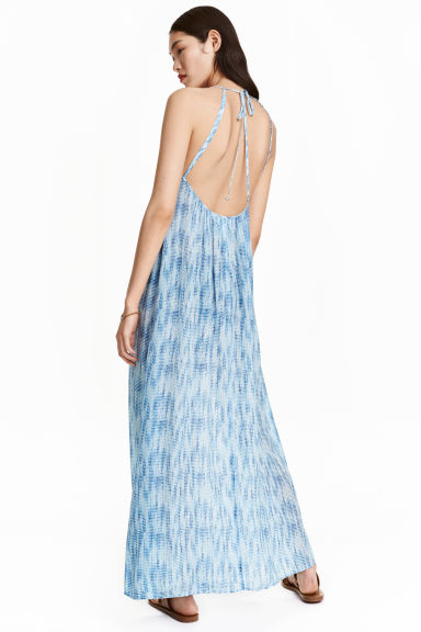 Maxi dress - Blue/White/Patterned - Ladies | H&M CN 1