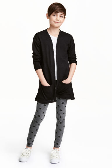 Jersey leggings - Dark grey/Stars - Kids | H&M 1