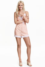 Playsuit with lace - Powder pink - Ladies | H&M CN 1