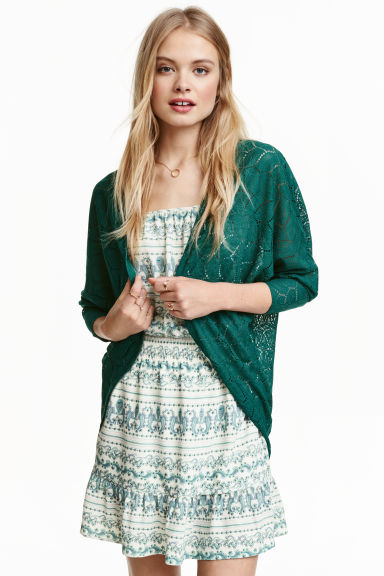 Lace cardigan - Green - Ladies | H&M CN 1