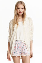 Lace cardigan - Natural white - Ladies | H&M 3