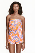 Terry towelling playsuit - Orange/Patterned - Ladies | H&M CN 1