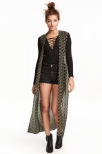 Long chiffon gilet - Black - Ladies | H&M CN 1
