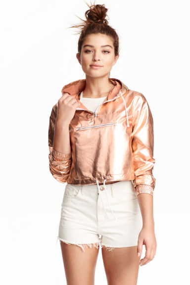 Shimmering metallic anorak - Rose gold - Ladies | H&M GB 1