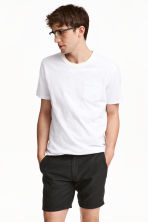 T-shirt with a chest pocket - White marl - Men | H&M CN 1