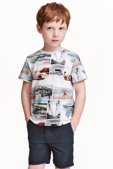 T-shirt with a motif - Photoprint - Kids | H&M CN