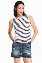 Vest top - White/Striped - Ladies | H&M CN 1