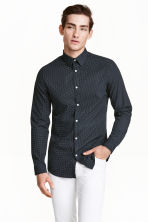 Camicia easy-iron - Blu scuro/pois - UOMO | H&M IT 1