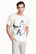 T-shirt avec impression - Blanc/Los Angeles - HOMME | H&M FR 1