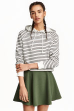 Circular skirt - Khaki green/Textured - Ladies | H&M CN 1
