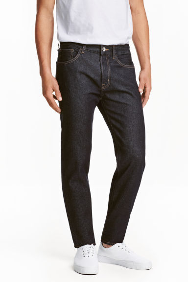 Straight Regular Jeans - Ciemnoniebieski denim - ON | H&M PL 1