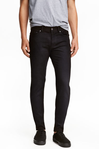 Slim Low Jeans - Black denim -  | H&M CN 1