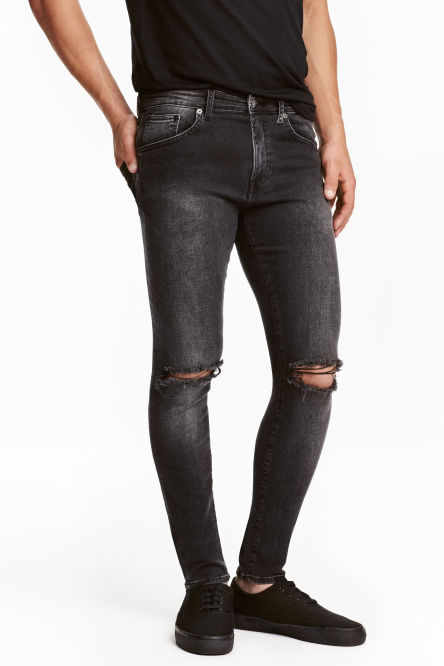 Super Skinny Low Ripped Jeans