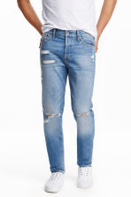 Straight Regular Jeans - 浅牛仔蓝 -  | H&M CN 1