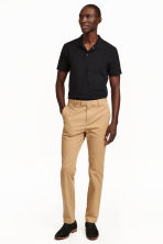 Premium cotton chinos - Beige - Men | H&M 3