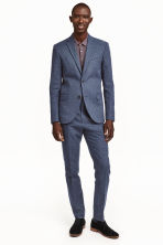 Suit trousers in a linen blend - Dark blue marl - Men | H&M CN 1