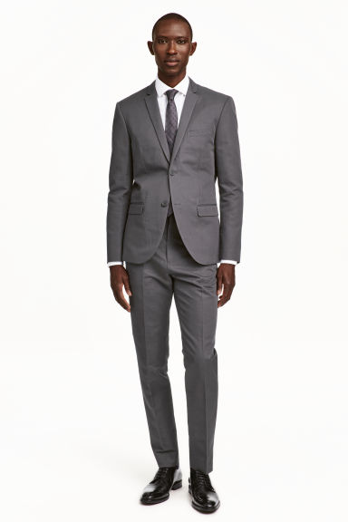 Suit trousers in a linen blend - Grey - Men | H&M CN 1
