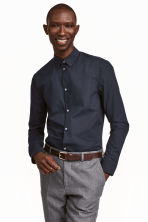 Premium cotton shirt - Dark blue - Men | H&M 2