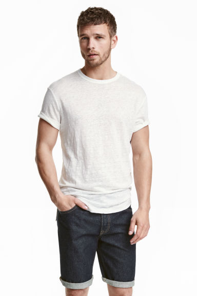 Denim shorts - Dark denim blue - Men | H&M CN 1
