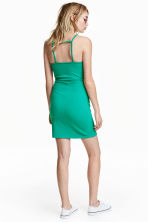 Textured dress - Green - Ladies | H&M CN 1