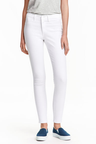 Skinny High Ankle Jeans - White - Ladies | H&M CN 1