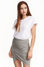 Draped skirt - Grey - Ladies | H&M 3