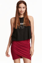 Draped skirt - Red - Ladies | H&M CN 2