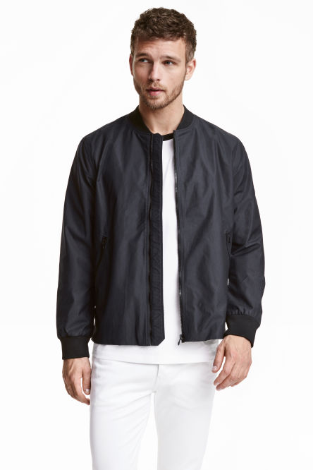 Bomber jacket in a nylon blend