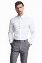 Stretchhemd - Slim fit - Wit - HEREN | H&M BE 2