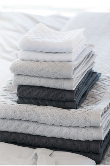 2-pack guest towels - Light grey - Home All | H&M CN 1