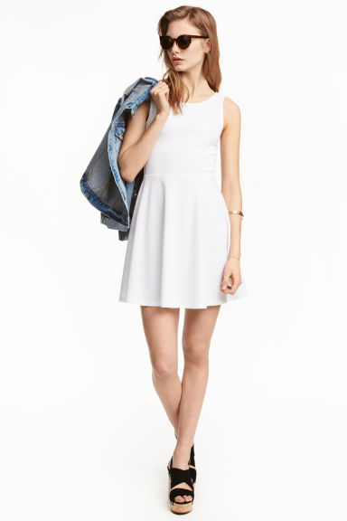 Sleeveless dress - White - Ladies | H&M CN 1