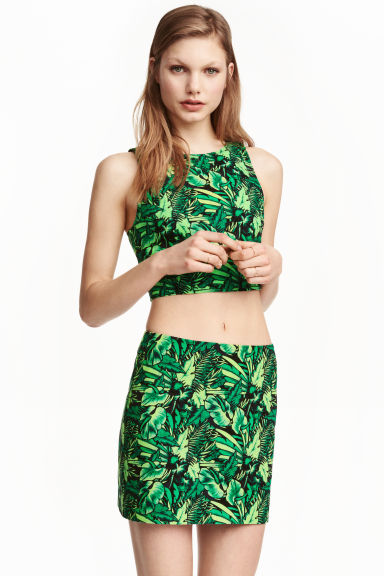 Short skirt - Green/Leaf - Ladies | H&M CN 1