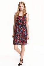 Sleeveless jersey dress - Black/Floral - Ladies | H&M CN 1