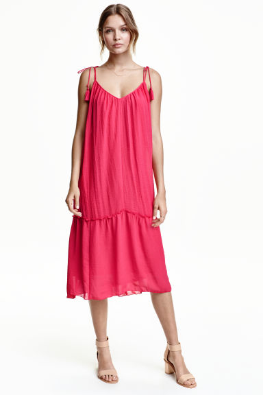 Frilled dress - Cerise - Ladies | H&M