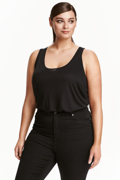 H&M+ Jersey vest top - Black - Ladies | H&M CN