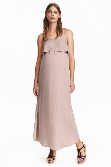 MAMA Satin dress - Powder pink - Ladies | H&M CN