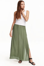 Maxi skirt - Khaki green - Ladies | H&M CN 1