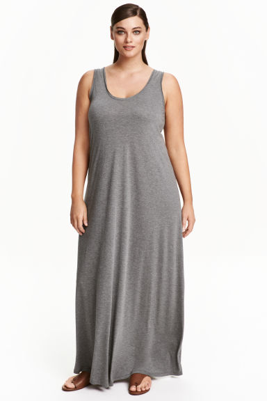 H&M+ Maxi dress - Dark grey marl - Ladies | H&M CN 1