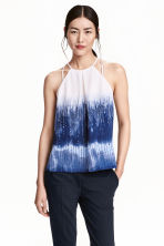 Top senza maniche - Bianco/blu fantasia - DONNA | H&M IT 1