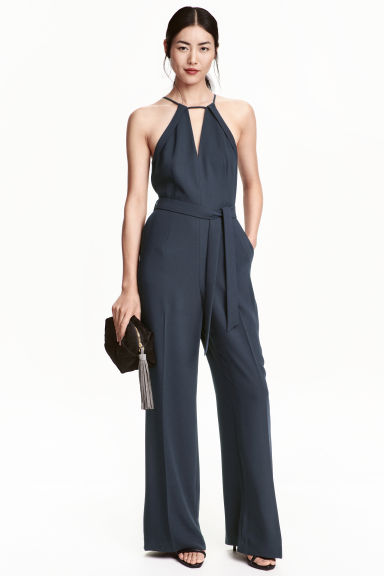 Jumpsuit - Dark blue - Ladies | H&M CN 1